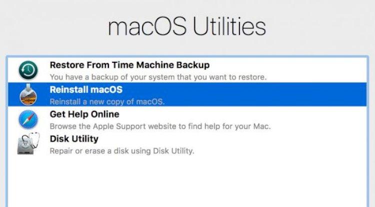 macOS'u yeniden yükleyin