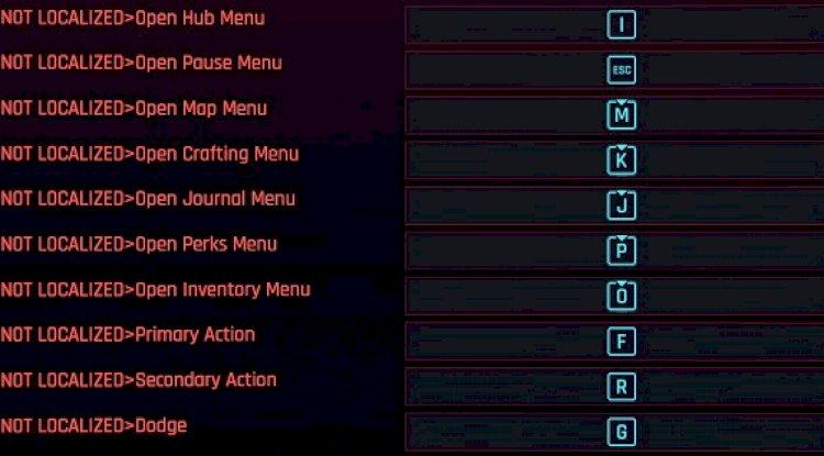 Cyberpunk anahtar bağlama modları