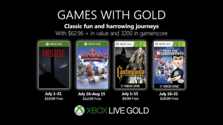 Temmuz 2019 için Gold ile Xbox ücretsiz Oyunlar
