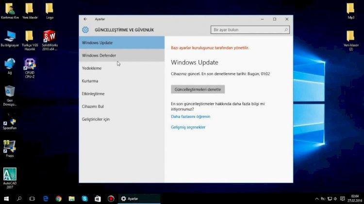 Oyun ve Performans İçin Windows 10 Nasıl Optimize Edilir