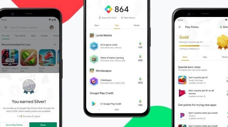 Google, Android kullanıcıları için Oyun Puanları ödül programını tanıttı